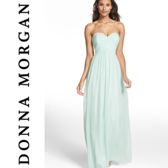 Donna Morgan Dresses | Mint Blue Prom Dress Bridesmaid Dress ...